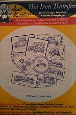 Aunt Martha's Hot Iron Transfer 3772 Antique Cars NEW Free Shipping