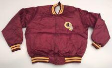 NEW Vtg Washington Redskins Chalk Line Satin Jacket NWOT Button Up XL Deadstock