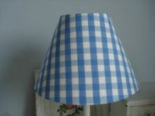 **LAURA ASHLEY BLUE CHAMBRAY GINGHAM LAMPSHADE*COUNTRY STYLE Special Post Offer