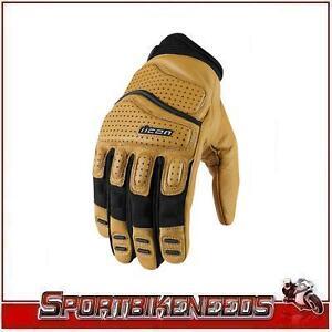 Icon Super Duty 2 Tan Brown Black Gloves XLarge XL