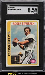 1978 Topps Football Roger Staubach #290 SGC 8.5 NM-MT+