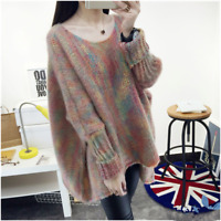 Women's Sweater Knitting Long Sleeve Pullover Warm Winter Casual Loose Blouses