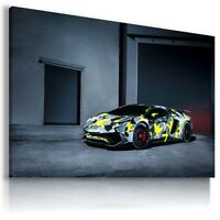 LAMBORGHINI AVENTADOR GRAY Cars Wall Art Canvas Picture  AU491  MATAGA