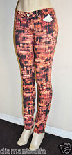 GUESS Women's Brittney Ankle Skinny Digital-Print Jeans sz 28