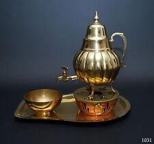Set Teekanne Dröpilminna Krankanne Tablett Schale Teelicht warmhalter Messing