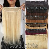 100g Real Remy Clip In Human Hair Extensions One Piece 3/4Full Head 20 Inch MX20