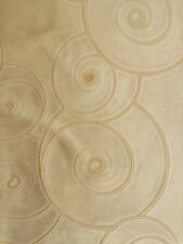 TOWNSEND LEATHER  Fossil Top Grain Cowhide patina cream embossed nubuck  hide
