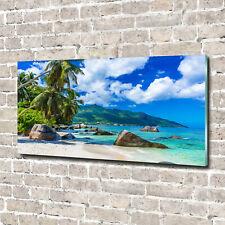Acrylglas-Bild Wandbilder Druck 140x70 Deko Landschaften Seychellen Strand