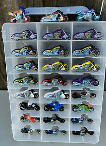 LOT #66 - LOT OF 27 HOT WHEELS MOTORCYCLES SCRORCHIN SCOOTER - BLAST LANE + MORE