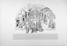 LES ŒUVRES de MISÉRICORDE - Gravure 19e (Fac-simile d'une estampe de Savonarole)