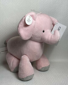 Carters Pink & Gray Elephant Animated Wind Up Musical Plays Twinkle Little Star