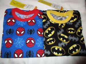 Gymboree Size 12 Batman & Spider-man short sleeve / Pants gymmies pajamas NEW