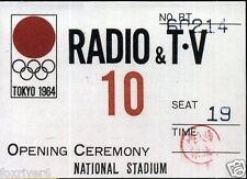 OLYMPICS Tokyo 1964 Press Pass Summer Olympic Games Opening Ceremony - reprint