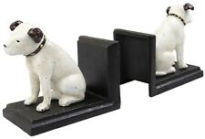 HMV Music Nipper Dog Pair - Cast Iron Bookends Ornament Figures