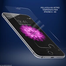 "PELLICOLA IN VETRO TEMPERATO PER IPHONE 6 - 6S - 4,7""  PROTEGGI DISPLAY ANTIURTO"