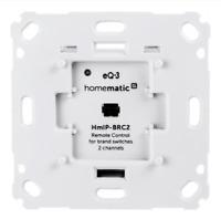 Homematic IP Wandtaster für Markenschalter - 2-fach | eQ-3 | HmIP-BRC2