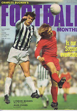 LYNDON HUGHES - WEST BROMWICH / ALUN EVANS - LIVERPOOL	Football Monthly Nov 1970