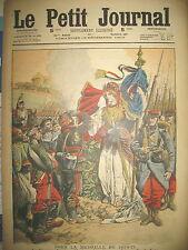 COMMEMORATION MEDAILLE DE 1870 FRIBOURG CLOCHE SACRISTAIN  LE PETIT JOURNAL 1909