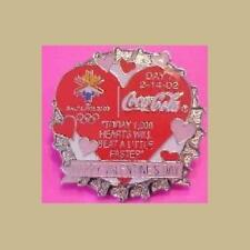 VALENTINES DAY OLYMPICS PIN SLC COCA COLA HEART DAY 7 PIN NEW