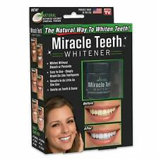 Miracle Teeth Whitener - Natural Whitening Coconut Charcoal Powder