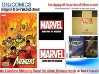 Avengers # 40   Cover A & Swab, Weaver Variant set  Pre-Order 12/30/2020 Marvel