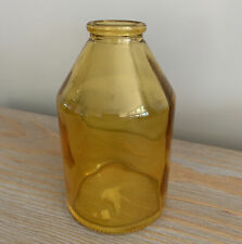 "Small Golden Yellow Glass Bud Vase 4.25"" By 2.5"""