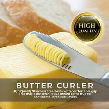 3 in 1 Stainless Steel Butter Spreader Knife Cheese Dessert Wide Blade