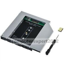 2nd M.2 NGFF SSD Optical bay Caddy for 9.5mm SATA Universal DVD-ROM ODD Laptop