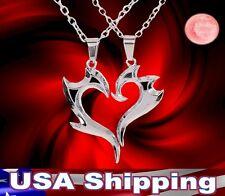 New Traibal Heart Magic Biker Pendant Silver Alloy Couple Necklace
