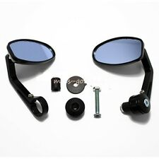 "1 Pair 7/8"" Motorcycle Rear View Black Handle Bar End Side Rearview Mirrors Bike"