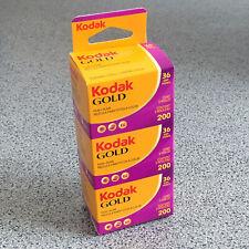 3er Pack Kodak Gold 200 Farbfilm 135-36 Color Kleinbildfilm ✅ MHD 08/2022