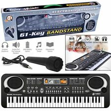 61 CHIAVI musica digitale elettronica Tastiera Pianoforte Elettrico & Microfono Set Regalo