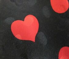 MEN'S RED HEARTS NECK TIE. 100% SILK, HAND MADE.RED/ BLACK  SEXY LOOK!  F-SHIP