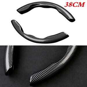 2Pcs Car Steering Wheel Booster Cover ABS Non-Slip Carbon Fiber Look Accessories