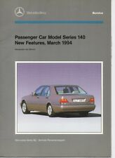 Car service repair manuals ebay 1994 mercedes benz new features introduction in service model series 140 manual fandeluxe Image collections