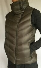 PATAGONIA Size S Prow Puffer Down Vest Pewter Gray Zip Up Jacket VGUC