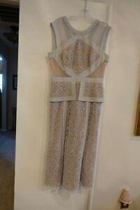 BCBG MAX Azria Runway Gray lace dress sz.10
