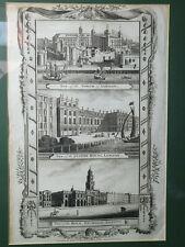 Antique Engraving - London- Alex Hogg - 18th century