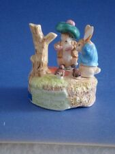 Benjamin Bunny & Peter Rabbit Schmid Musical Box Beatrix Potter Character