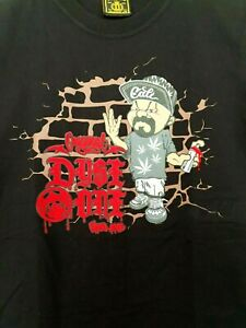 Dyse One Muscle Fit Black Luxury Tshirt Embossed Spray Paint Weed Cali Gangster