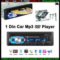 1 Din Autoradio DVD CD MP3 Lecteur Stéréo Bluetooth USB/AUX/SD In-dash FM 12V