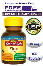 Nature Made Zinc Vitamin 30 mg Dietary Supplement 100 Tablets Exp 09/24