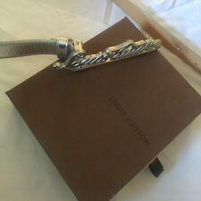 Nuevo Y En Caja Para Mujeres Cinturón de Louis Vuitton 100% Genuino Con Caja Lv Louis Vuitton Plata