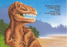 #2422-2425 First Day Ceremony Program 25c Prehistoric Animals