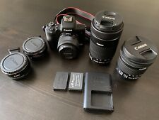 Canon EOS M50 mirrorless digital camera + extra lenses and adapters