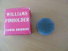 Williams circular lead pinholder/frog boxed 5cm diameter vintage flower arranger