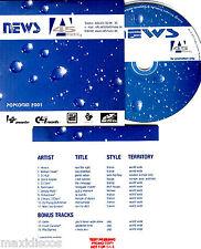 CD - NEWS 45 - VARIOUS (14 RARE REMIXES DANCE) PROMO CD, NUEVO*MINT, STOCK STORE