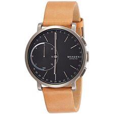 Skagen Connected Unisex Hagen Tan Leather Hybrid Smart Watch 42mm SKT1104 NEW