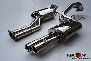 """MRC Ford BA/BF XR6T Turbo Stainless Steel Cat Back Exhaust System Twin 2.5"""""""