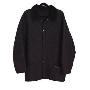 Mens Barbour Eskdale Quilt Quilted Jacket Size L Black